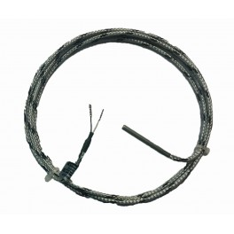 "T/C cable probe for free mounting, TSA, T/C ""K"", 0...400°С, d-5 mm, n-50 mm, 2 m GLGLP cable, DIN 1.4571"