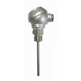 """RTD probe with protection head, TSC, Pt100, 0...400°С, d-6 mm, n-100 mm, mounting connection G1/2"""", DIN 1.4301"""