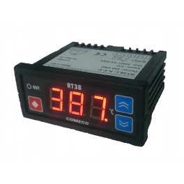 Thermocontroller, RT38-L.A.C.B, single-channel, power supply 230VAC, 1 relay output, control algorithm ON-OFF, input RTD